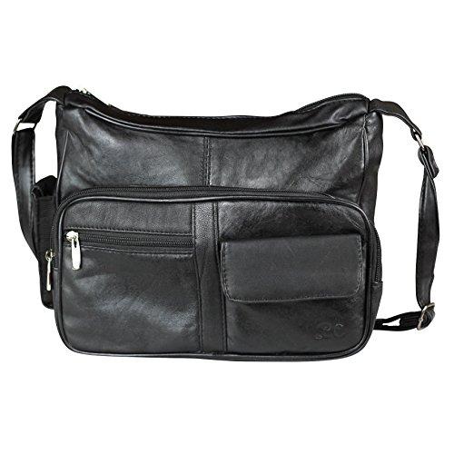 Zensufu LC Crossbody Shoulder Handbag Purse with Many Pockets