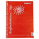 Alberts A4 Ringbinder Refill Loose Writing Paper - 150 Sheets - 23 Punched Holes