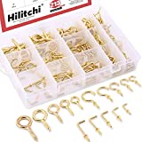 Hilitchi 213-Pcs Eye Bolts Screw Eyes, Screw-in Ceiling Hooks Cup Hooks and Square Hooks Assortment Kit