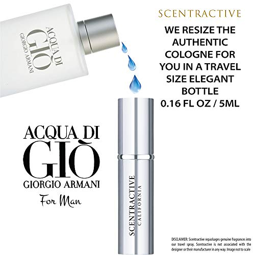 Acqua Di Gio By Giorgio Armani For Men Travel Mini Size Eau De Toilette Spray 5 ml / 0.16 Fl Oz - Valentines Day Gifts