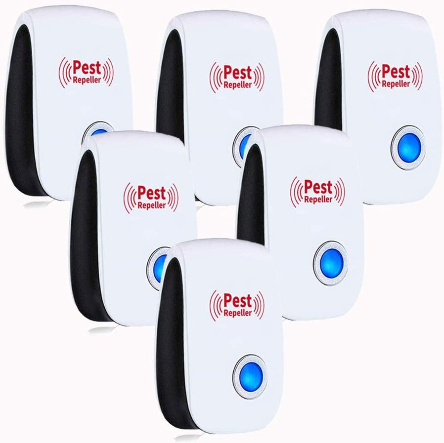 CEOSEI Ultrasonic Pest Repeller Human and Pets Safe Pest Control Ultrasonic Repellent Non-Toxic Electronic Repellant - Bug Repellent Human and Pets Safe 6 Pcs