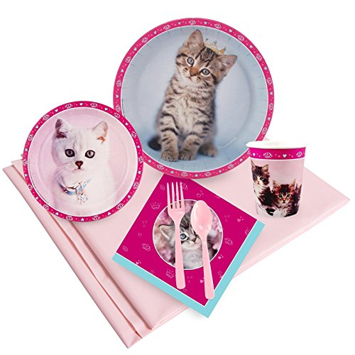 BirthdayExpress Rachael Hale Glamour Cats Party Supplies - Party Pack for 16