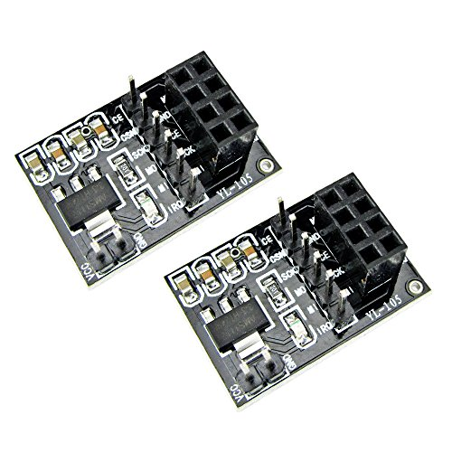 Addicore 2 Pack nRF24L01+ Breakout Adapter with On-board 3.3V Regulator