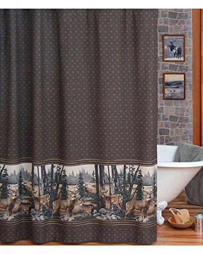 Blue Ridge Trading Unisex Whitetail Dreams Shower Curtain Brown One Size