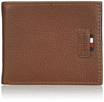Tommy Hilfiger Men's RFID Blocking Leather Passcase Wallet -tan, 1Siz