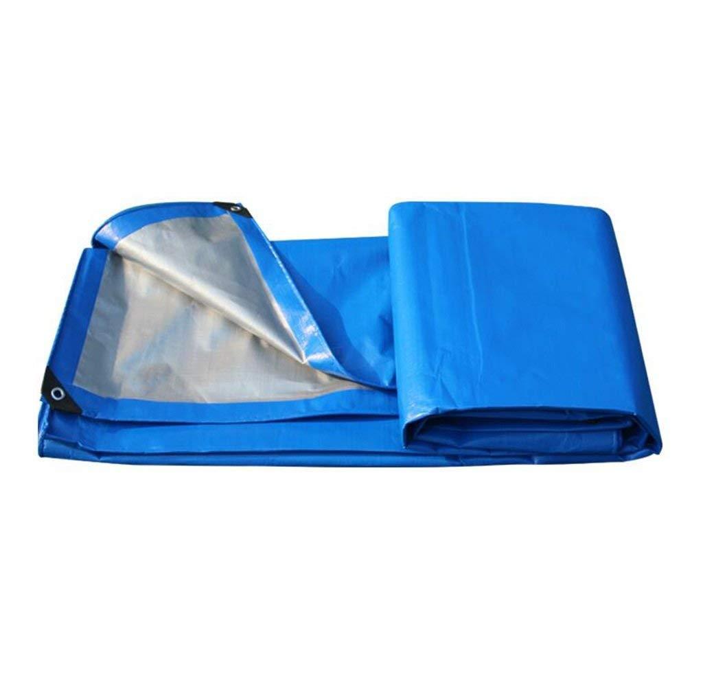 Lina Wasserdichte Plane im Freien kampierendes doppelseitiges Auto-Stiefel-Dach-Regen-Abdeckungs-Planen-Grundblatt-Zelt m² 200g   m² (Stärke 0,31mm (Blau (größe   6x10m)