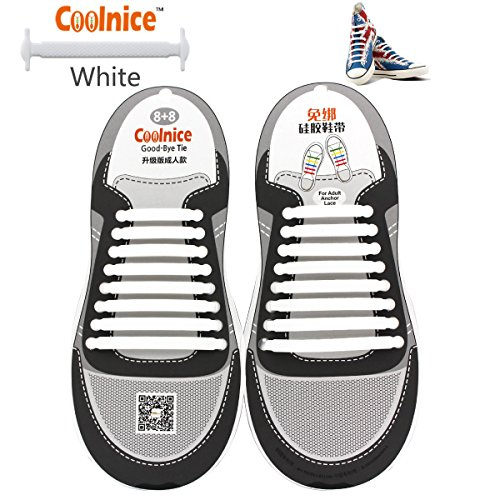 Coolnice Shoelaces Adults bigger 16pcs