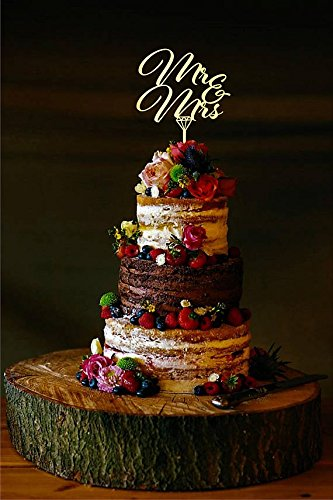 76DinahJordan Herr Und Frau Hochzeit Cake Topper, Mit Ringe, Eheringe,  Kuchen Topper Rustikalem