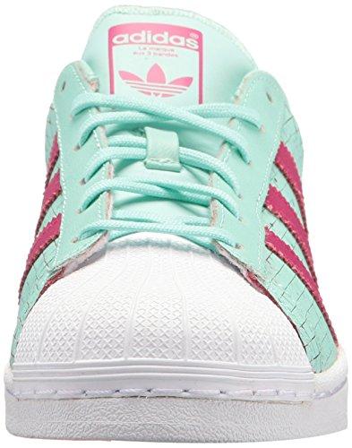adidas Originals Women's Shoes | Superstar J, Icegrn/Icegrn/Bopink, 4M US Big Kid by adidas Originals (Image #4)