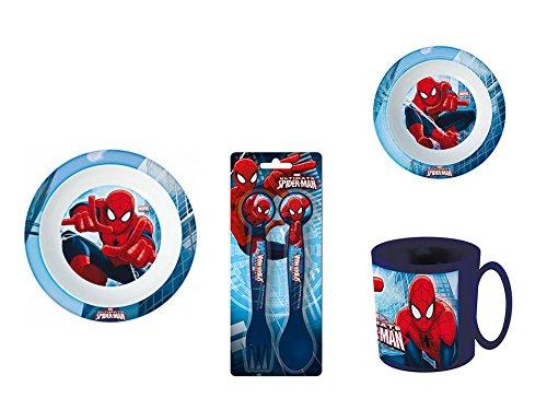 Spiderman, 0058, Vajilla infantil apta para microondas. Productos ...