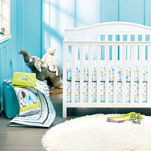 New Baby Safari Elephant 8pcs Crib Bedding Set F.C.L