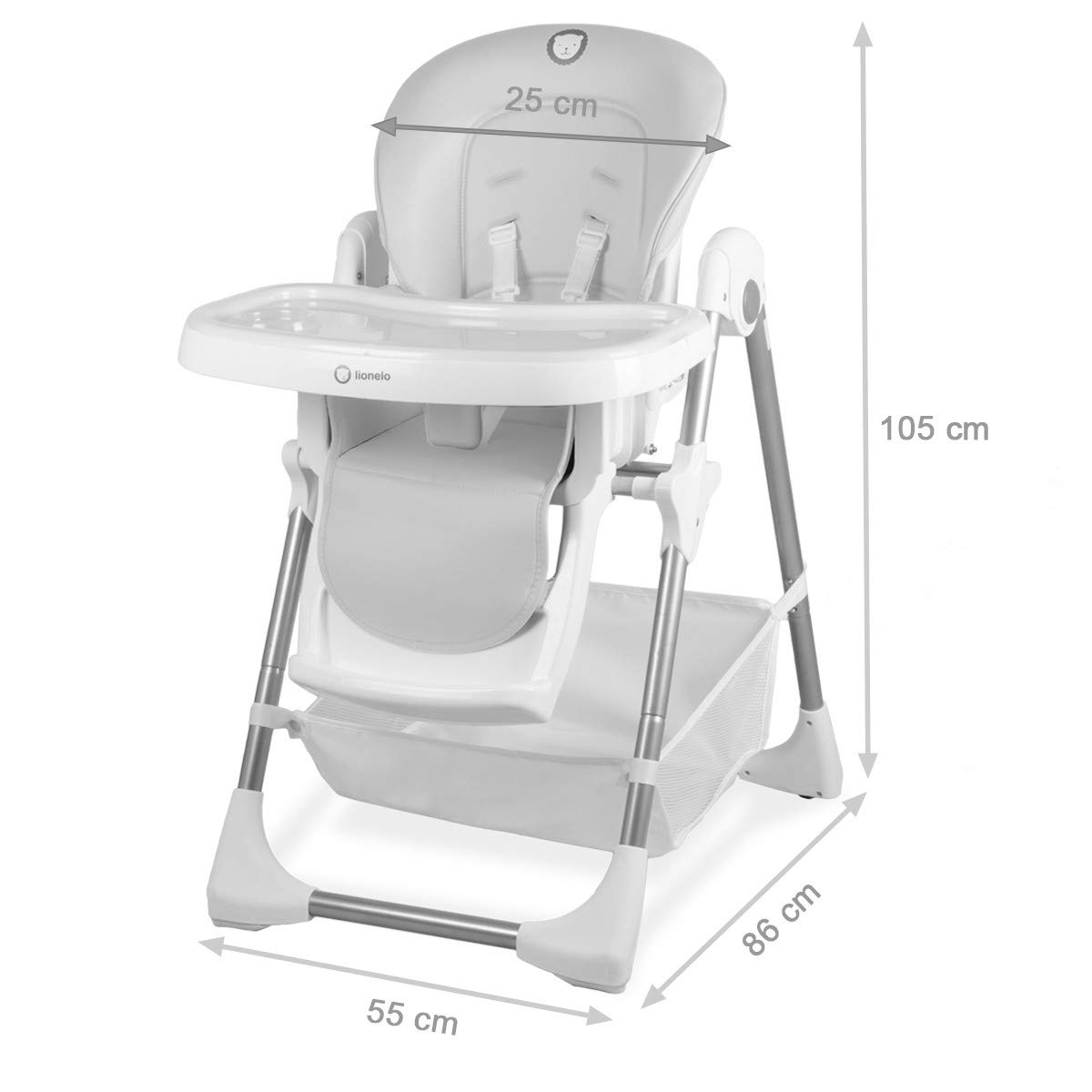 LINN Plus Chaise haute multi-position r/églable 2en1 Turquoise