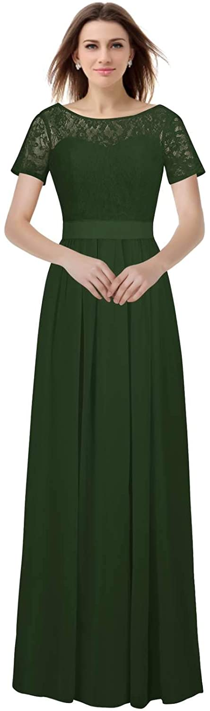 Dark Green VaniaDress Women A Line Long Prom Evening Dress Bridesmaid Gowns V230LF