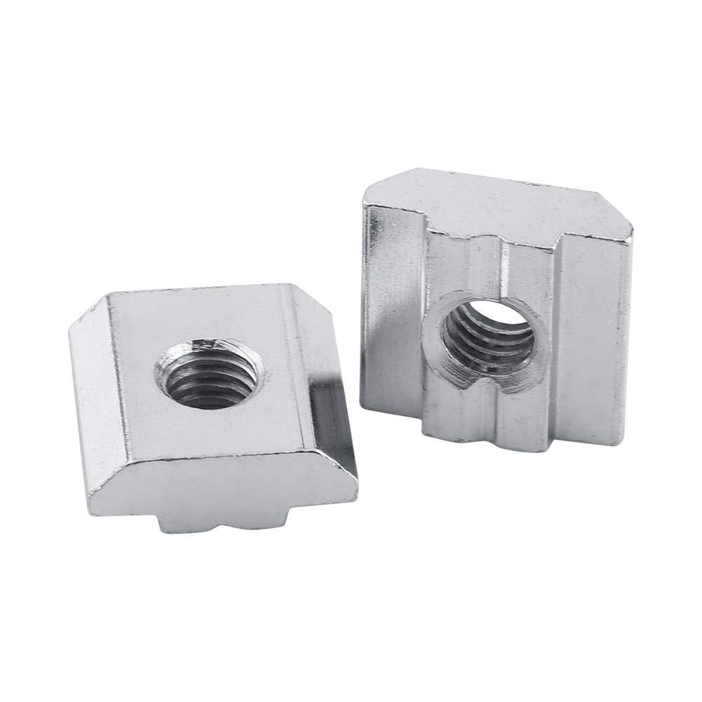 EU30-M6 Nuts,Fydun 0pcs//lot Nickel Coated Carbon Steel Sliding T-Slot Nut for Aluminum Profile Accessories