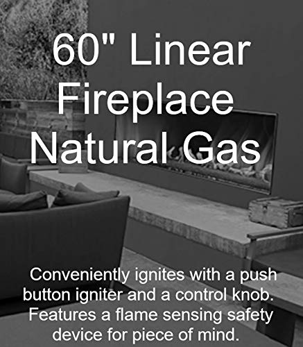Empire Comfort Systems Outdoor 60'' SS Manual Ignition Linear Fireplace - Natural Gas by Empire Comfort Systems