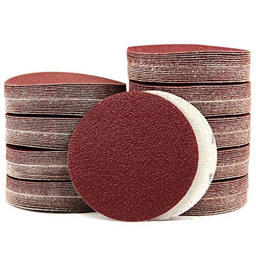 Maslin 7-Inch/180mm Sanding Disc 40-2000 Grits Aluminum Oxide Flocking Back Sandpapers for Sanders 100 Pcs - (Grit: 100 Grits)