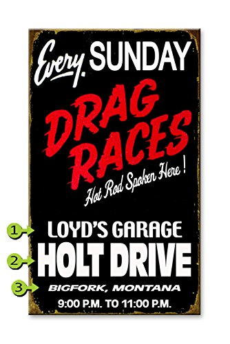Drag Race Wood Sign 23x39 - Sign Wood Races