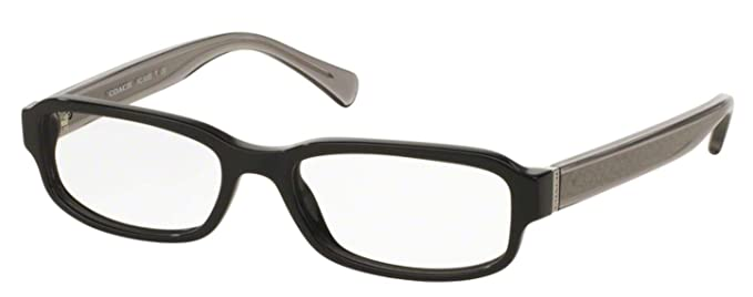 afb810523db78 Coach Women s HC6083 Eyeglasses Black Dark Grey Crystal 52mm at Amazon  Women s Clothing store