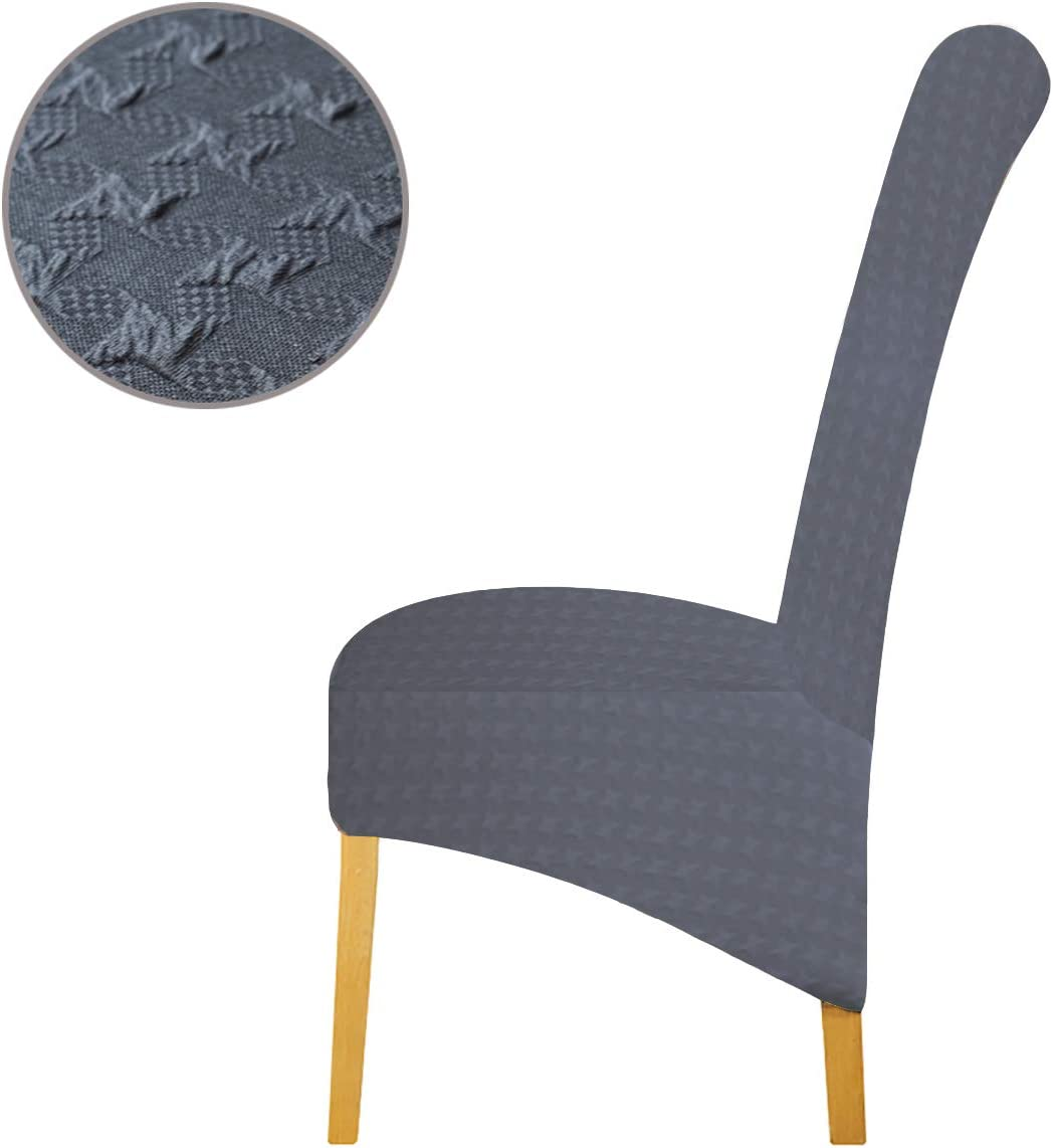 Seat Covers for Dining Room Wedding Banquet Party Decoration 2//4//6 Pcs Chair Protective Slipcover Embossed Jacquard Fabric XL Chair Covers for Dining Chairs