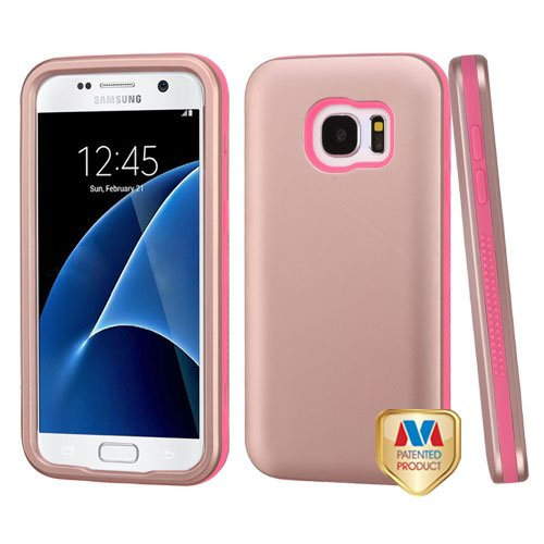 MyBat Cell Phone Case for Samsung G930 (Galaxy S7) - Retail Packaging - Rose Gold/Pink