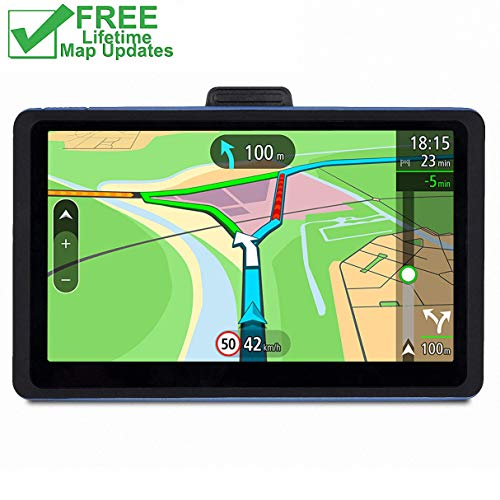 GPS Navigation for Car, 7 Inch Car GPS 8GB 800×480 LCD Touch Screen GPS Navigation System, Car Vehicle Electronics Lifetime Free Maps