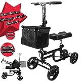 mobile 5000 motor oil - Foldable Medical Steerable Knee Scooter Adult Walker Wheels Basket Crutch Black