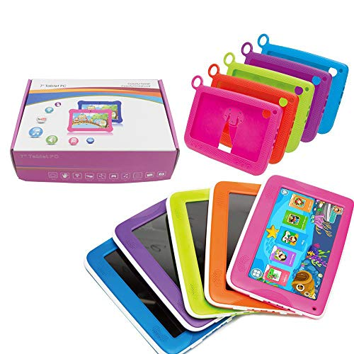 """Aobiny Children's Tablet,Newest 7""""INCH Kids Android 4.4 Tablet PC Camera Quad CORE HD WiFi, for Children (Hot Pink) by Aobiny (Image #5)"""