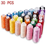 Kyпить Candora Sewing Thread Assortment Coil 30 Color 250 Yards Each Polyester Thread Sewing Kit All Purpose Polyester Thread for Hand and Machine Sewing на Amazon.com