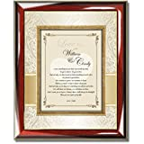 Personalized Poetry Wall Plaque Romantic Gift for Husband Wife Girlfriend Boyfriend - Anniversary Birthday Valentines Present Love Poem Frame - Overall Size 13W X 16H - Item BFG-PGC2