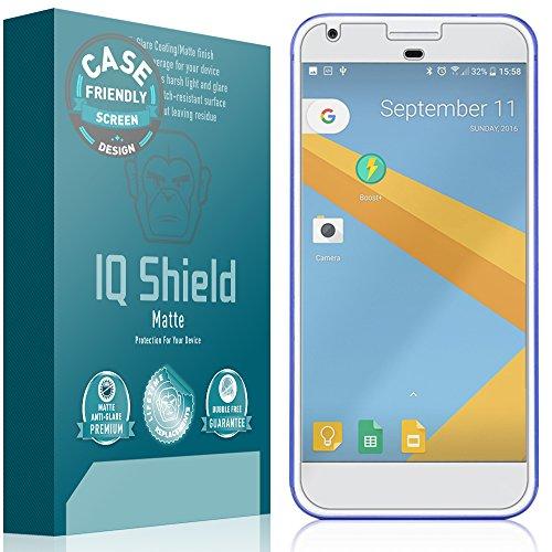 Google Pixel XL Screen Protector, IQ Shield Matte Full Coverage Anti-Glare Screen Protector for Google Pixel XL (5.5,Case Friendly) Bubble-Free Film