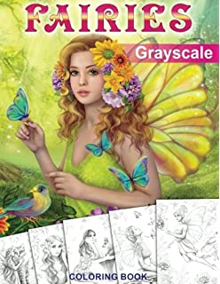 grayscale coloring book coloring book for adults - Fantasy Coloring Books For Adults