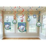 Baseball- Swirl Decorations