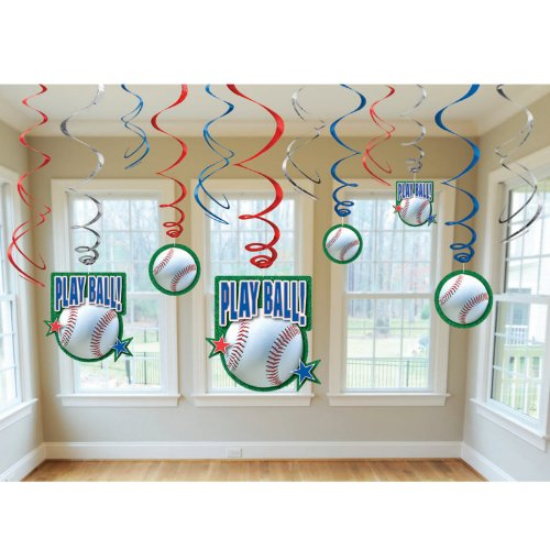 Baseball- Swirl Decorations