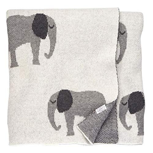 Mud Pie Newborn Blankets - Mud Pie Knit Elephant Blanket