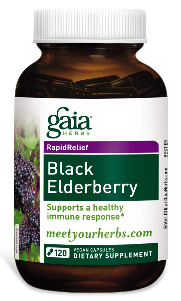 Gaia Herbs Black Elderberry, 120 Count