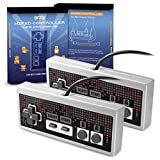Orzly RetroPad for NES Classic Mini (TWIN PACK) - Wired Joypad/Gamepad - 2x GRAY GREY Controllers With Extended 1.8m/6 ft 1.8m Cable For Use With NES Classic Edition (New 2016 Mini NES Model)
