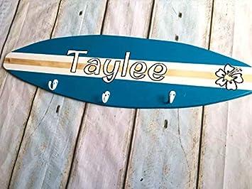 Letia48Maud - Tabla de Surf de Madera con Gancho Personalizable, para decoración de surfistas,