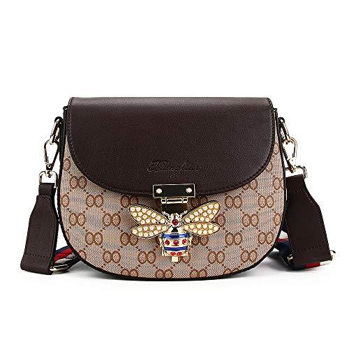 Beatfull Bee Shoulder Bag for Women, Elegant Handbag Crossbody Bag with Pearl (coffee)