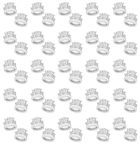 Beistle 88762-50 50-Piece White and Silver Happy New Year Regal Tiara