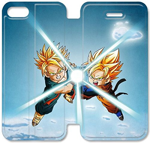 Klreng Walatina® Coque iPhone 6 6s Plus de 5,5 pouces Coque cuir Dragon Ball Z S3K8Bz