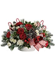 Jolly Candy Cane Christmas Arrangement (Vase Included)