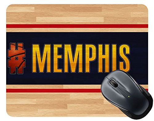 BleuReign(TM) Basketball Team Hashtag Memphis #Memphis Square Mouse Pad
