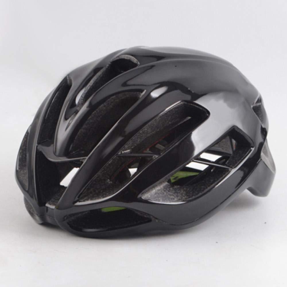 LIUDATOU Casco da ciclismo Ultralight rosso strada Bike Helmet Strada Mtb Mountain Trail Matte Casco da bicicletta Bright neroM