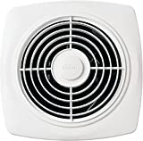 Broan Through-the-Wall Ventilation Fan, White Square Exhaust Fan, 6.0 Sones, 270 CFM, 10'