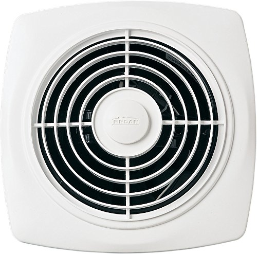 Wall Ventilation - Broan Through-the-Wall Ventilation Fan, White Square Exhaust Fan, 7.0 Sones, 270 CFM, 10