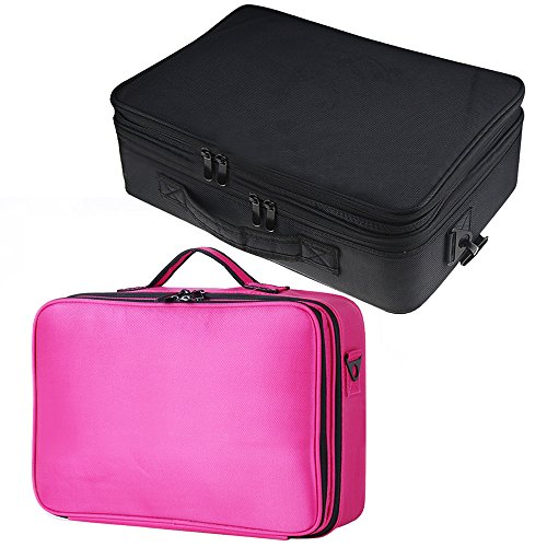 Elisona-Portable-Travel-3-layer-Large-Space-Waterproof-Cosmetic-Tool-Storage-Carrying-Suitcase-with-Shoulder-Straps