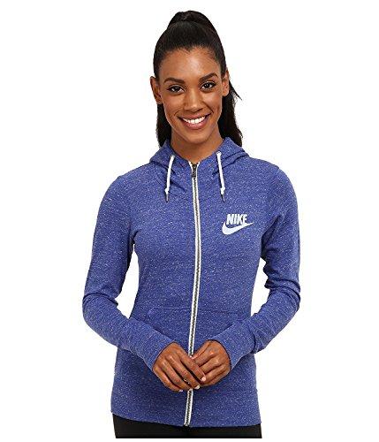Nike Women's Gym Vintage Full Zip Hoodie (X-Large, Blue)