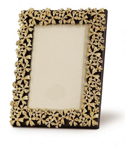 L'Objet Gold Plated Garland Frame W/ Yellow Swarovski Crystals 5