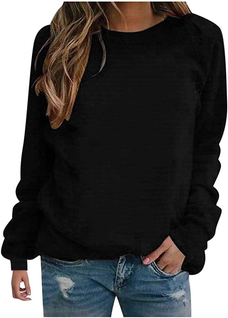 Toraway Women Plus Size Pullover O Neck Sweatshirt Long Sleeve Casual Loose Pullover Shirt Blouse S-5XL
