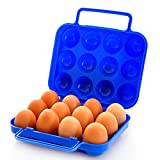 4 Inch Egg Crate Mattress Topper DWD Portable12 Eggs Plastic Container Holder Folding Egg Storage Box Handle Case